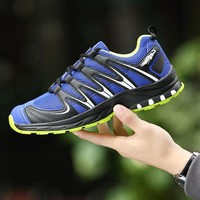2017 Style Running Shoes For Men Outdoor Sneakers Mesh Breathable TPR Soles Athletic Trainer Workout Hard Court Sport Shoes men