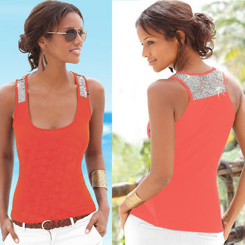 Womens Sequins Tank Top Gift 63
