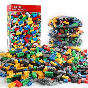 1000Pcs Building Blocks LegoINGs City DIY Minecrafted Creative Bulk Bricks Sets Friends Baseplate Educational Toys for Children