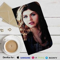 Alexandra Daddario Leather Wallet iPhone 4/4S 5S/C 6/6S Plus 7| Samsung Galaxy S4 S5 S6 S7 NOTE 3 4 5| LG G2 G3 G4| MOTOROLA MOTO X X2 NEXUS 6| SONY Z3 Z4 MINI| HTC ONE X M7 M8 M9 CASE