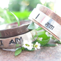 """Custom personalized  """"I am"""" spinner ring great for fidgeting or meditation anxiety worry"""