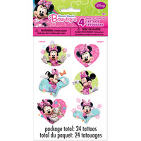 Minnie Mouse Temporary Tattoos [4 Sheets Per Pack]