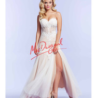 Ivory Lace Vintage Inspired Corset Gown