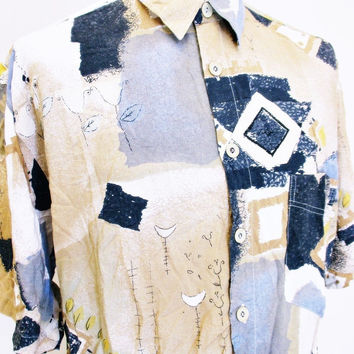 Vintage 1990s Shirt Urban Renewal Outfitters Street Style Outsized L