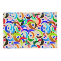 Colorful Crescent Moon Design on Placemats