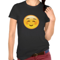 White Smiling Face Emoji Tees