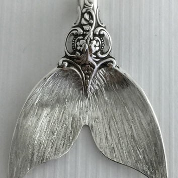 Ask about Special Orders Sterling Spoon Mermaid Tail Pendant