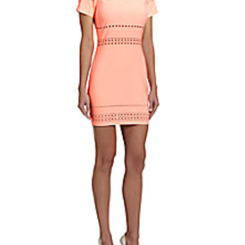 Elizabeth and James - Ari Perforated Sheath Dress - Saks Fifth Avenue Mobile