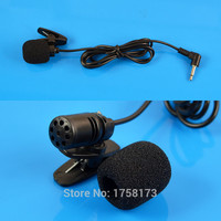 3.5mm L Jack Microphone Black Hands Clip On Mini Lapel Mic For PC Notebook Laptop 105cm Cable Free Shipping