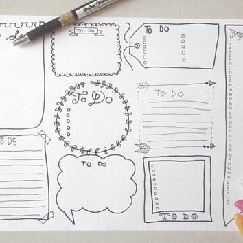 to do lists boxes journal printable planner bullet journal bujo to do agenda home organizer work notebook journal download lasoffittadiste