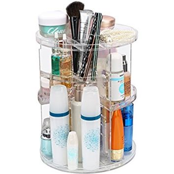 ISWEES 360 Degree Rotating Makeup Organizer,Adjustable Multi-Function Cosmetic Storage Box Make Up Display Stand,7 Layers with Large Capacity,Fits Different Types of Cosmetics and Accessories