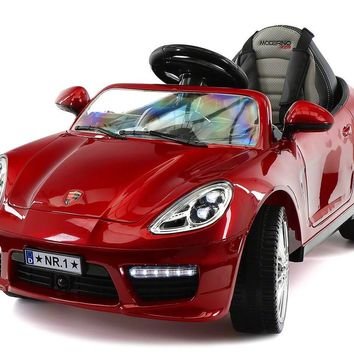 Porsche Boxster Style Electric 12V Kids Ride-On Car R/C Remote