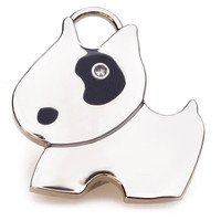 Bull Terrier Charm Engraved Dog ID Tag in Silver or Gold