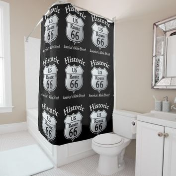 Historic Route 66 -- Shower Curtain