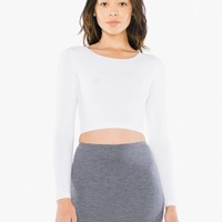 Cotton Spandex Jersey Long Sleeve Crop Top | American Apparel