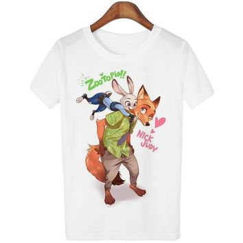 Fox And Friend White T-Shirt