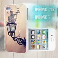 unique iphone case, i phone 4 4s 5 case,cool cute iphone4 iphone4s 5 case,stylish plastic rubber cases cover, funny street lamp yellow  p988