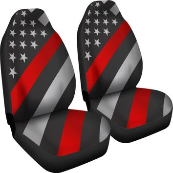 Firefighter Thin Red Line Car Seat Covers