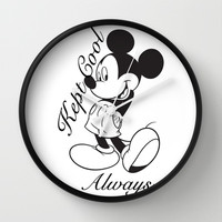 Kept Cool Always Mickey Mouse Wall Clock by Timeless-Id