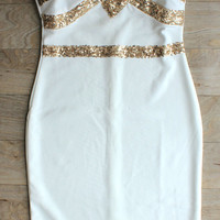"""Starlight"" Sequin Party Dress in White"