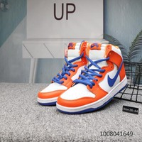 DCCK N704 Nike Dunk High Premium Skateboard Shoes Orange Blue