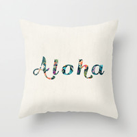 Aloha! Throw Pillow by Basilique | Society6
