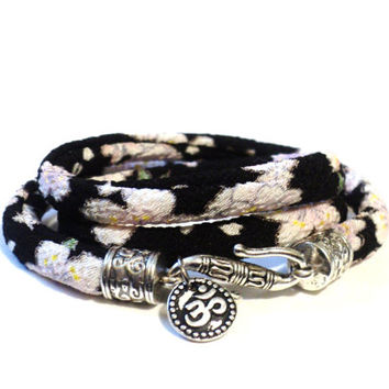Yogi Wrap Bracelet - Om Jewelry - Yoga - Indie - GIFTS For Her - Sisters Gift - Graduation Gift - Stocking Stuffer - Namaste Jewlery