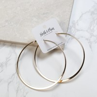 Large Hoop Earring, Gold