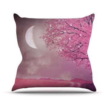 "Monika Strigel ""Song of the Springbird"" Outdoor Throw Pillow"