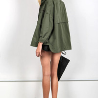 Hooded Chic Olive Jacket