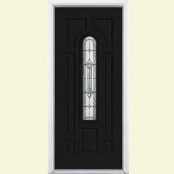 Masonite 36 in. x 80 in. Providence Center Arch Painted Steel Prehung Front Door with Brickmold-22273 - The Home Depot