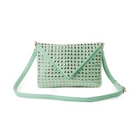 Womens Envelope Stud Clutch , Mint Pewter  Journeys Shoes
