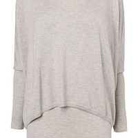 Charley crop double layer knitted jumper