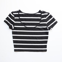 DAWN STRIPED CROP