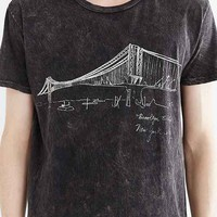 Project Social T Brooklyn Bridge Tee- Washed Black