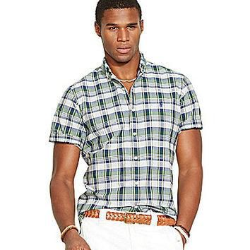 Polo Ralph Lauren Madras Shirt - Green Madras L
