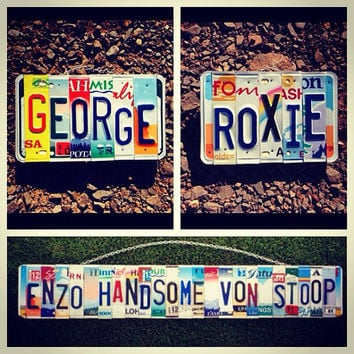 License plate art. Custom order. License plate. Name. Horse. Dog. Cat. Pet. Dog house. Dog tag. Barn. Sign. Barn decor. Letters.