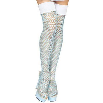 Sexy Large Fishnet Thigh High Stockings Halloween Accessory