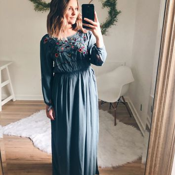 Juniper Embroidered Maxi Dress