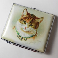 Dorothy Travers Pope Cute Cats Cigarette Case Card Holder Wallet