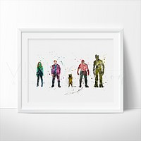 Guardians of the Galaxy Watercolor Art Print
