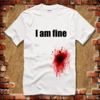 Plus Size New 2017 autumn -summer men's funny t-shirts women's shorts fashion Get shot and I am fine chirstmas gift desigual#ZCY258 [10312513091]