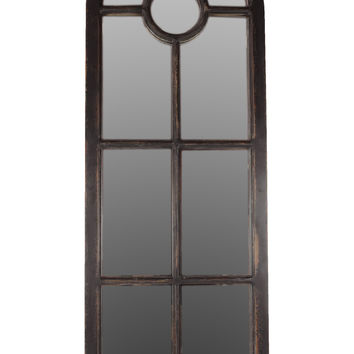 Classical Wooden Wall Decor W/ Glass Pane Effect In Black