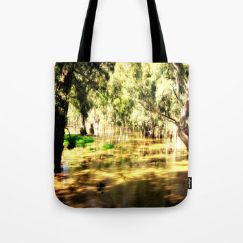 Flooded Plains Tote Bag by Chris' Landscape Images & Designs
