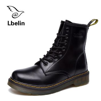 Fashion Online Women Boots Doc Martins 2016 British Dr Martins Vintage Classic Genuine Martin Boots Female Thick Heel Motorcycle Women's Shoes