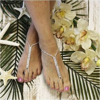 IMPERFECT GLAMOROUS barefoot sandals - silver