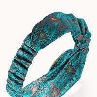 Satin Paisley Knotted Headwrap