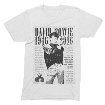 David Bowie 1946 - 2016 Design White T-Shirt