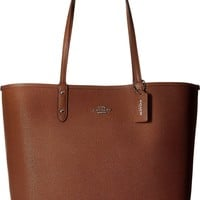 COACH Womens Solid Reversible City Tote
