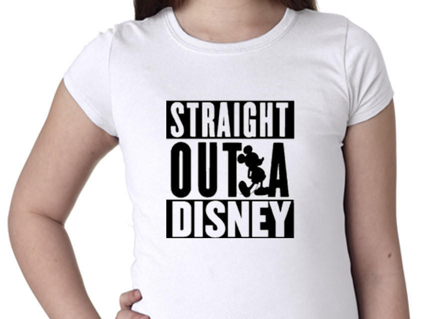 d28f7820a Straight Outta Disney Girls T-shirt / from Spunky Candles &